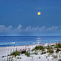 Moon Over Beach by Michael Thomas
