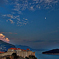Moon Over Dubrovnik's Walls by Stuart Litoff
