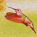 Moon Over Hummingbird by April Nowling