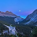 Moon Over Icefields Parkway by Alan Dyer
