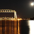 Moon Over Lake Superior by Blake Johnston