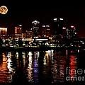 Moon Over Little Rock - No.411 by Joe Finney
