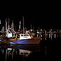 Moon Over Marina 1 - Sheepshead Bay Brooklyn New York by Gary Heller
