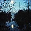 Moon Over Mill Creek By Steve Strand by Patricia Strand