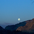 Moon Over Rattlesnake Mountain   #2785 by J L Woody Wooden