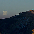 Moon Over Rattlesnake Mountain   #2830 by J L Woody Wooden