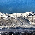 Moon Over The Snow Covered Mountains by Susan Garren