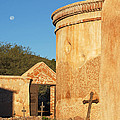 Moon Over Tumacacori Mortuary by Tom Daniel