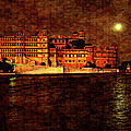Moon Over Udaipur Painted Version by Steve Harrington