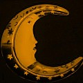 Moon Phase In Orange by Rob Hans