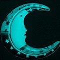 Moon Phase In Turquois by Rob Hans