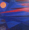 Moon Reflecting On A Lake by Walter Casaravilla