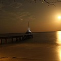 Moon Rise Over Popa Island by John Griswold