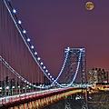Moon Rise Over The George Washington Bridge by Susan Candelario
