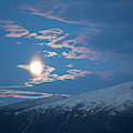 Moon Rise Over The Presidential Range by Jose Azel