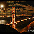 Moon Rise San Francisco Golden Gate Bridge by Blake Richards