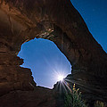 Moon Through Arches Windows by Michael J Bauer