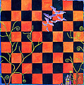 Flight Of The Moon Witch Checkerboard by Janet Immordino