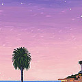 Moonlight Beach At Dusk by Mary Helmreich