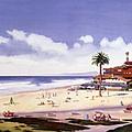 Moonlight Beach Encinitas by Mary Helmreich