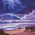 Moonlight Over Makena Beach by David Lloyd Glover