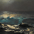 Moonlight. Wood Island Light by Winslow Homer