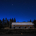 Moonlit Starscape At The Old Smokehouse by Marty Saccone