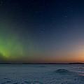 Moonrise And Aurora by Jakub Sisak