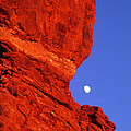 Moonrise Balanced Rock Arches National Park Utah by Dave Welling