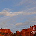 Moonrise In Sedona by Denise Mazzocco