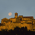 Moonrise Over Anghiarri by Susan Rovira