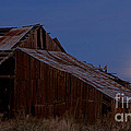 Moonrise Over Decrepit Barn by Robert Woodward
