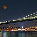 Moonrise Over Manhattan by Susan Candelario