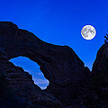 Moonrise Over North Window Arch by Jeff Burton