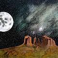 Moonrise Over Sedona by John Lyes