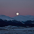 Moonset over the Great Divide