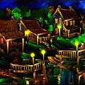 Moonshine Lake - Scratch Art Series - # 26 by Steven Lebron Langston