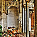 Moorish Chair And Alcove At The Alhambra by Greg Matchick