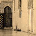 Moorish Walkway In Sepia At The Alhambra by Greg Matchick
