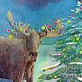 Moosey Christmas by LeAnne Sowa