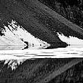 Moraine Lake Abstract - Black And White #2 by Stuart Litoff