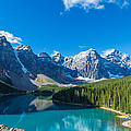 Moraine Lake At Banff National Park by Panoramic Images