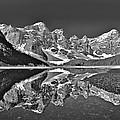Moraine Lake - Black And White by Stuart Litoff