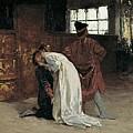 Morelli, Domenico 1826-1901. The Kiss by Everett