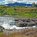Moricetown Falls And Canyon Fishing Operation On The Bulkley River In Moricetwown-british Columbia  by Ruth Hager