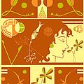 Morioka Montage In Sixties Sunshine by Nancy Lorene