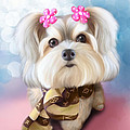 Morkie Joy by Catia Lee