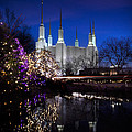 Mormon Church At Christmas by Sydney Tran