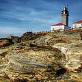 Morning At Beavertail Lighthouse by Joan Carroll