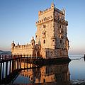 Morning At Belem Tower In Lisbon by Artur Bogacki